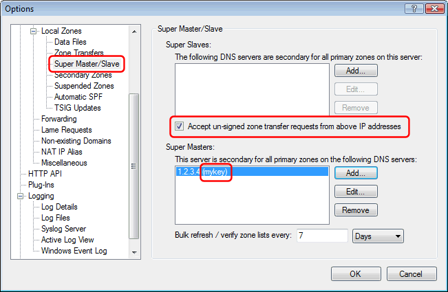 Secure zone transfers in Simple DNS Plus v  5 2