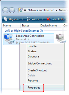 Configuring Windows to use local DNS server (Windows Vista)