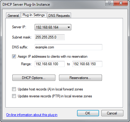 Simple DNS Plus - DHCP Server plug-in