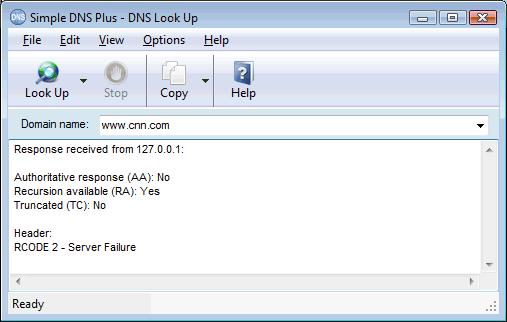 Not resolving Internet domains / Returns RCODE 2 - Server Failure